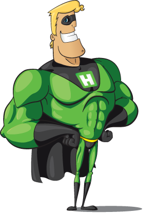 Hyperman is HyperMail's hero in the world of mass email marketing!